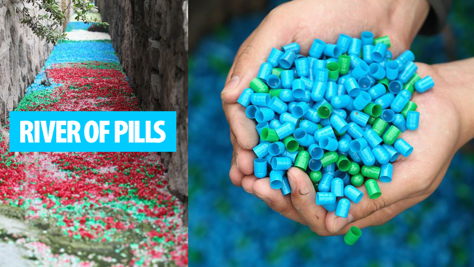 Click here to read Mysterious Rainbow River of Pills Appears In China