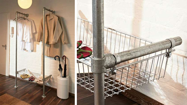 Build a Simple, Stylish, Industrial-Style Clothing Rack with Pipes