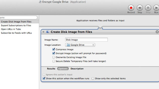 Drag-and-Drop To Automatically Encrypt Files in Google Drive Using Automator on Mac