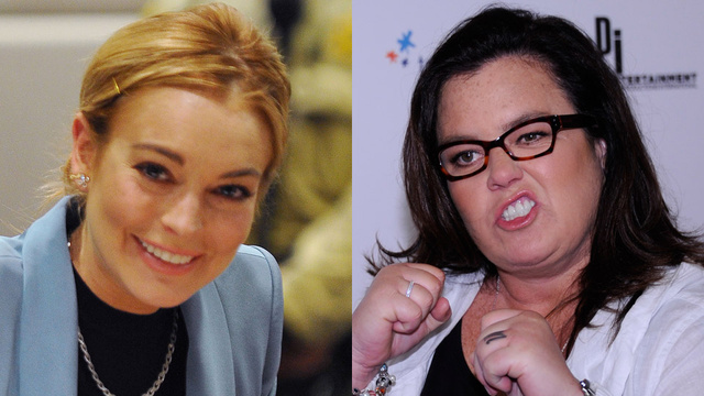 Rosie O'Donnell Appoints Herself Boss of Lindsay Lohan, Says She Sucks Too Much to Be Liz Taylor