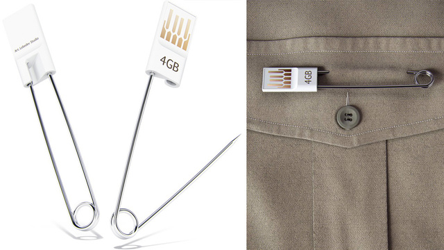 Safety Pin Flash Drive Makes an I-Always-Lose-Things Fashion Statement