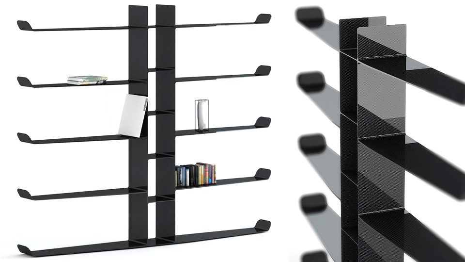 Click here to read Carbon Fiber Bookshelves Are Novel Objects of Lust