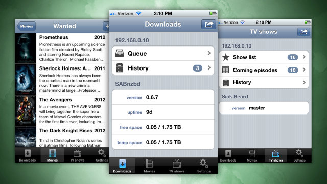 Click here to read Qouch Manages Your Movie and TV Downloads from Your iPhone, Is Exactly What Every Usenet User Needs