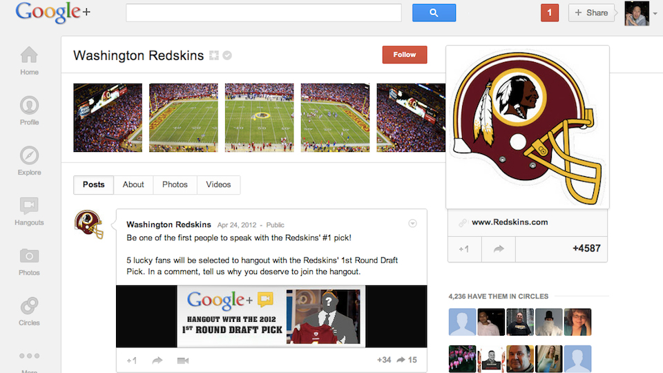 Click here to read Hang Out with NFL Draft Picks on Google+ Because That's Not Awkward