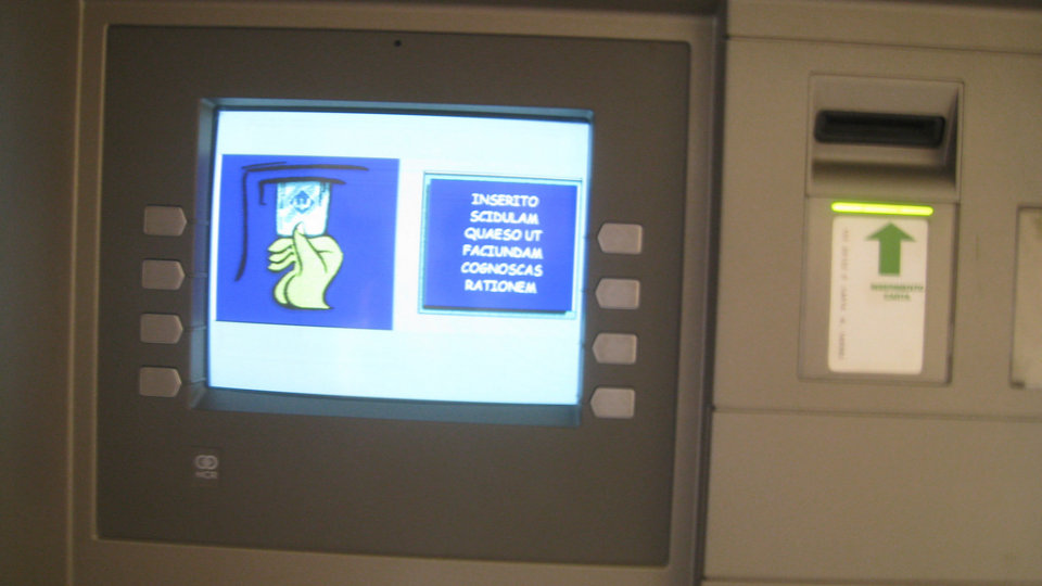 Click here to read The ATMs in Vatican City Speak Latin