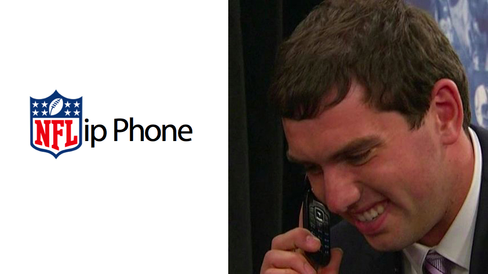 Click here to read The First Pick in the NFL Draft Andrew Luck Still Uses a Flip Phone