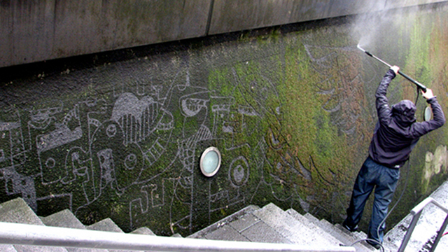Click here to read Ethical Graffiti: Pressure-Washing Moss to Make Art