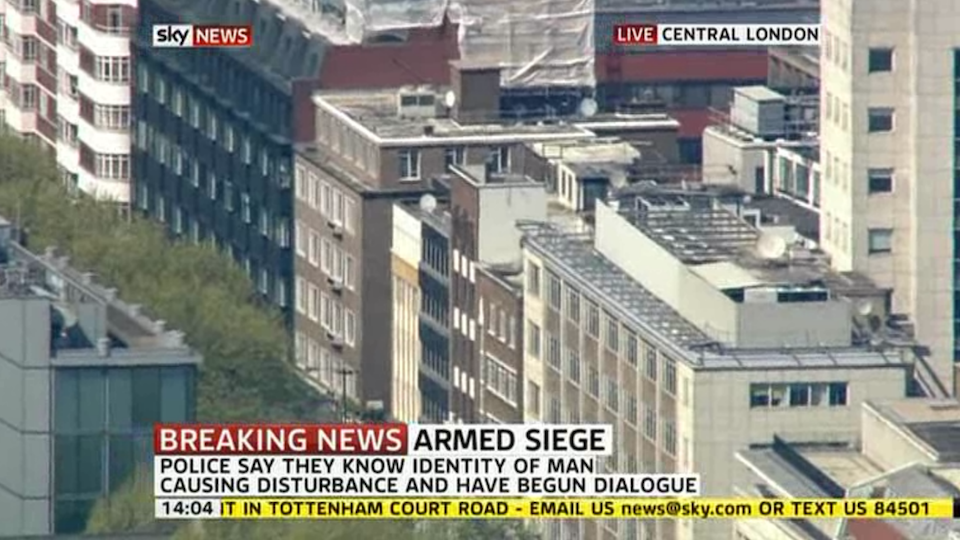 Click here to read Man Holding Central London Building Captive with Homemade Bomb (Updating)