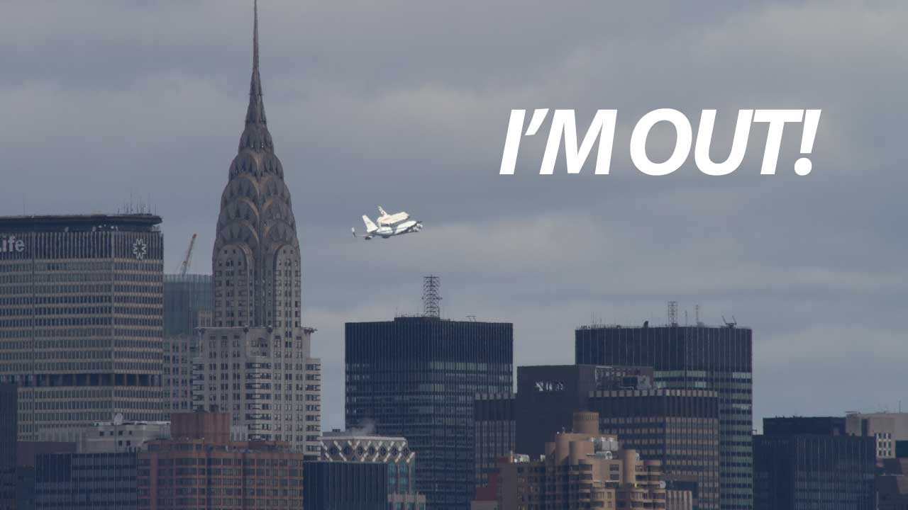 Click here to read Here's Video of Space Shuttle Enterprise Flying Over NYC