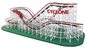 Forget Magnets, This Working 1:48-Scale Wooden Roller Coaster Is the Ultimate Desk Toy