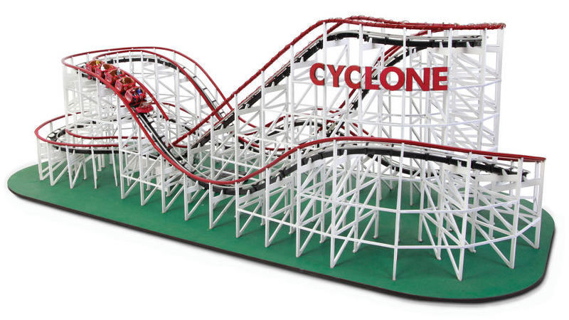 Click here to read Forget Magnets, This Working 1:48-Scale Wooden Roller Coaster Is the Ultimate Desk Toy