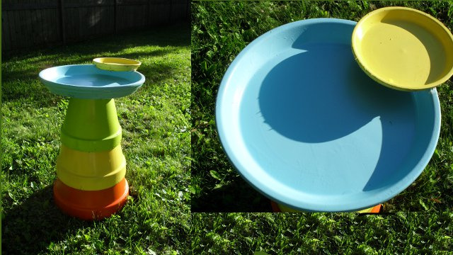Repurpose Terra Cotta Planters Into a Bird Bath