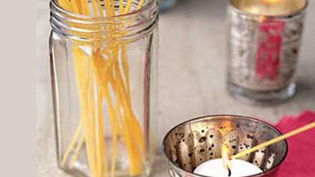 Light Candles with a Dry Spaghetti Noodle