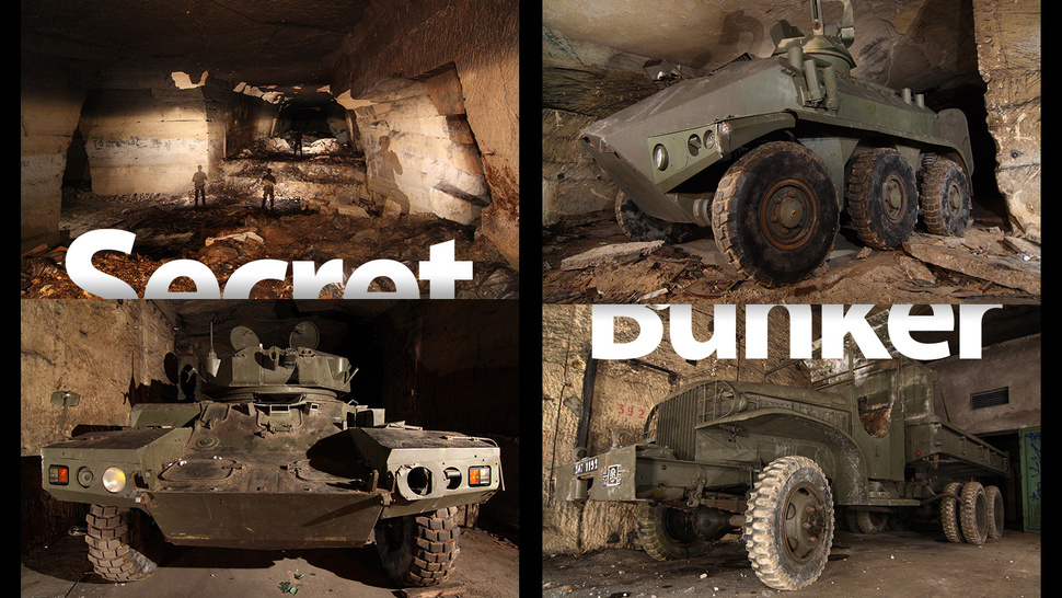 Secret Underground Bunker Is Full of World War Weapons and Military Vehicles