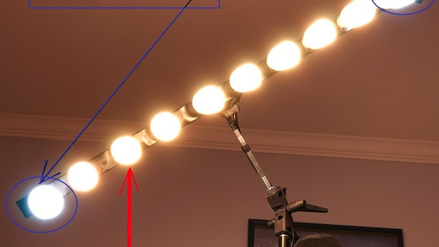 Build Your Own CFL Strip Light from an Umbrella Stand and a Heavy Duty Power Strip