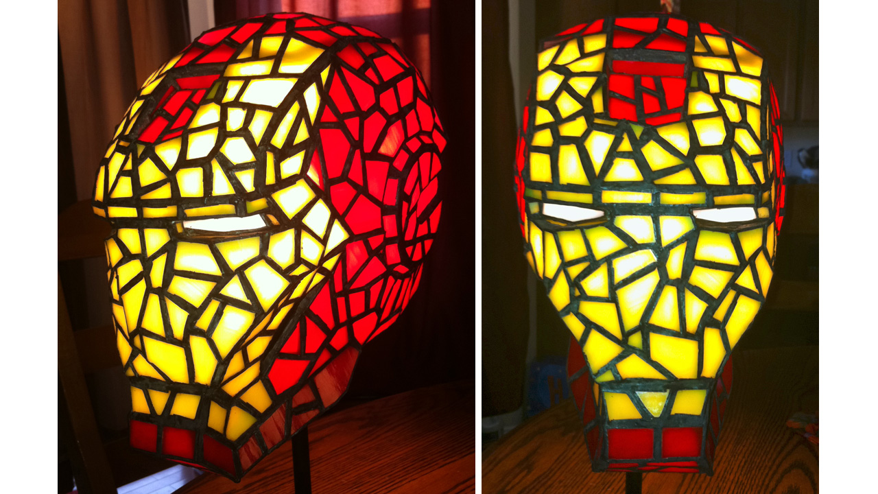 Click here to read Stained Glass Iron Man Helmet Would Totally Class-Up Avengers HQ