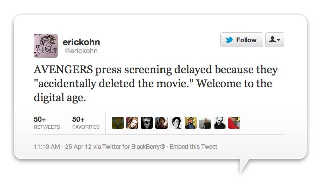 The Avengers Screening Delayed Because Someone Deleted The Movie