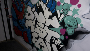 Epic Games' History Unfolds in This Graffiti-Covered Stairwell
