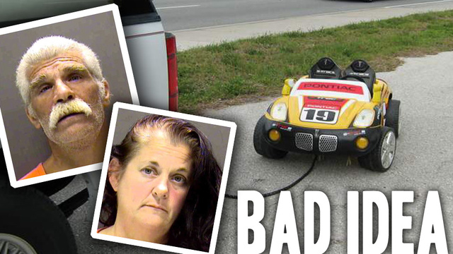 Drunken Grandparents Towed Their Grandkid In This Power Wheels Car