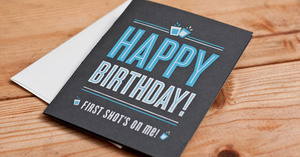 Just Add Booze To This Origami-fied Birthday Card Shot Glass