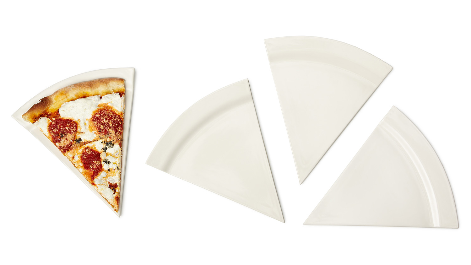 Why Waste An Entire Plate On A Single Slice Of Pizza?