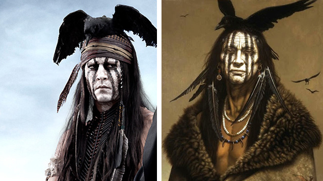 Johnny Depp's Tonto is Based on a White Man's Painting of an Imaginary Native American