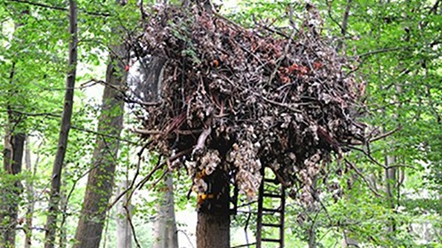 This Hanging Hotel Made of Recycled Materials Is Definitely Weird, Maybe Wonderful