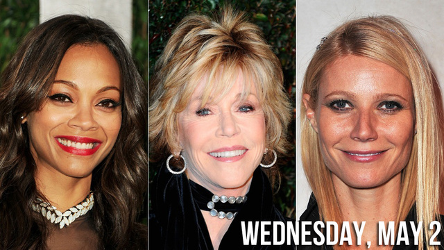 Zoe Saldana Likes Being on Top, Jane Fonda on Her Knees and Gwyneth Paltrow Any Ol' Way