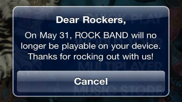 Harmonix Doesn't Know Why Mobile Rock Band Is Going Away This Month [Update]