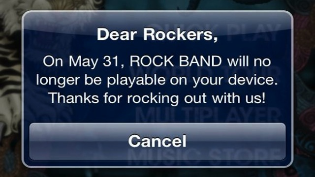 Click here to read Harmonix Doesn't Know Why Mobile <em>Rock Band</em> Is Going Away This Month