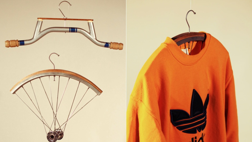 Click here to read Coat Hangers Made From Bike Parts Are Beautiful if Impractical