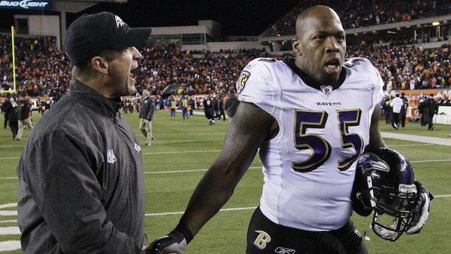 "Report: Terrell Suggs Tears His Achilles Playing Basketball, Will ""Likely"" Miss 2012 Season [UPDATE]"
