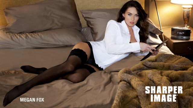 Half-Dressed Megan Fox Will Make You Want to Buy Electronics