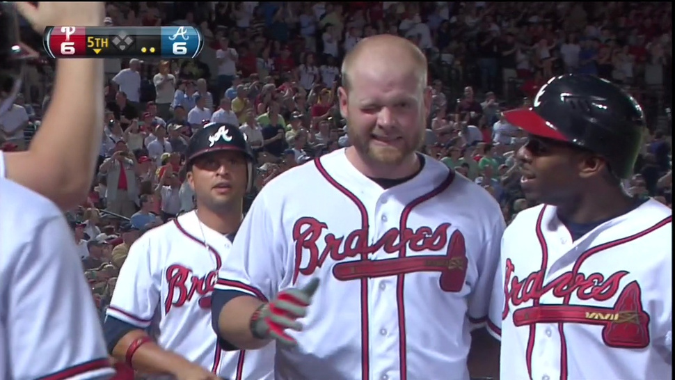 Brian McCann Hit A Grand Slam Off Roy Halladay, Got Bopped In The Face By A Teammate As Reward