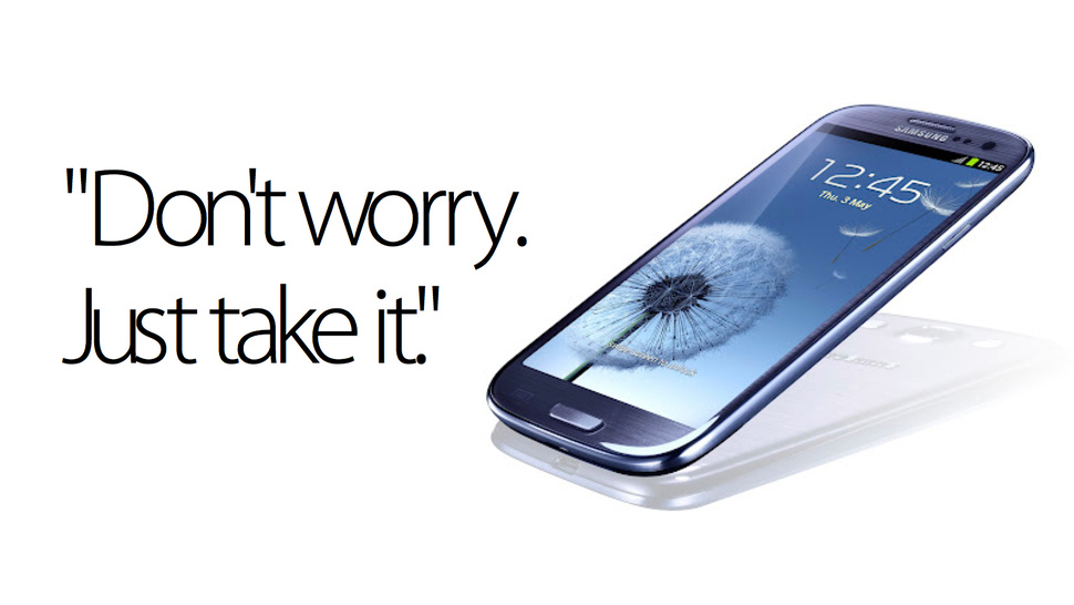 Samsung's Awkward Galaxy SIII Seduction