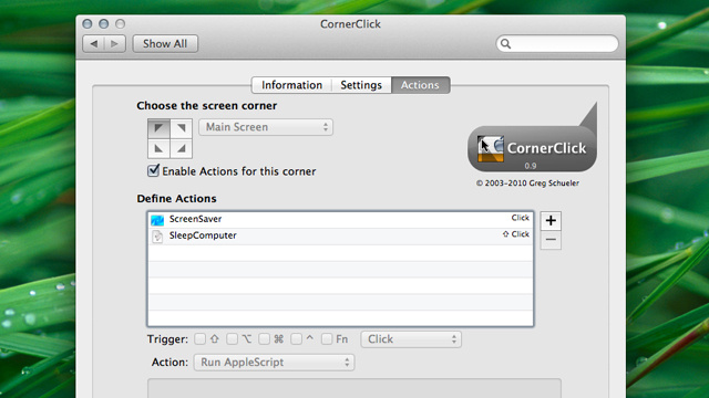 CornerClick Adds More Actions to OS X's Hot Corners, Saves You From Accidentally Activating Them