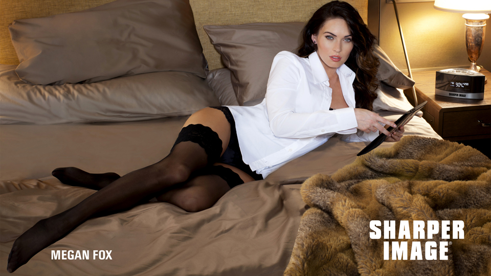 Click here to read Megan Fox Loves Sharper Image and Wants to Have Sex with You