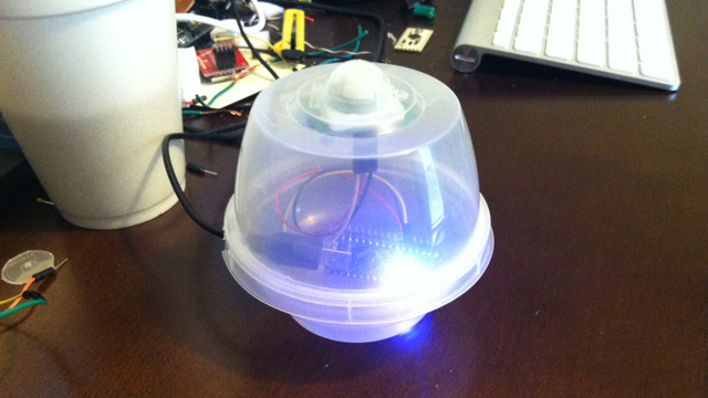 Make your own DIY motion alarm using an Arduino, a motion sensor, a few wires and headers.