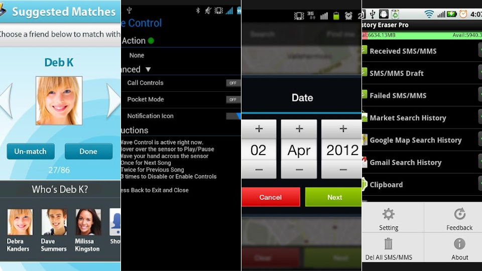 New Android Apps: Hand Gestures, BaconReader, History Eraser And More