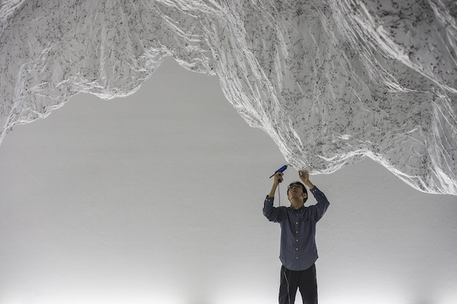 Mix One Part Hot Glue, One Part Plastic Sheeting and You Have a Beautiful, Bizarre Art Installation