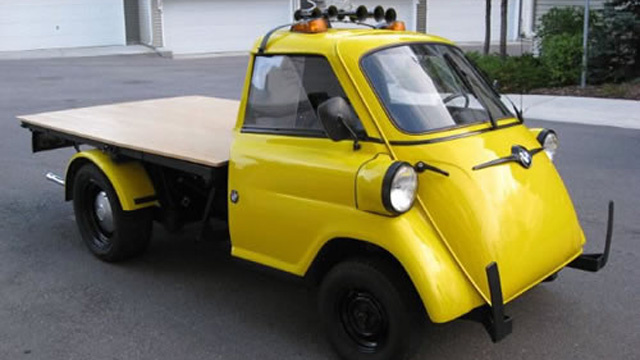 "Flatbed BMW Isetta ""Truck"" Is Unbelievably Cool"