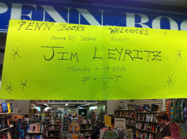 Former New York Yankee Great Jim Leyritz Will Be At A Penn Station Bookstore Next Thursday