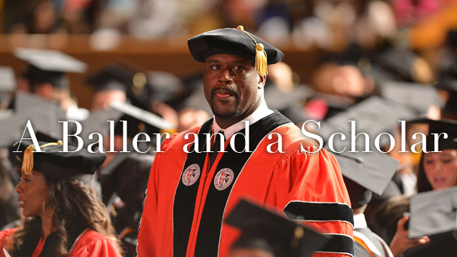Shaquille O'Neal Earned His Doctorate This Weekend
