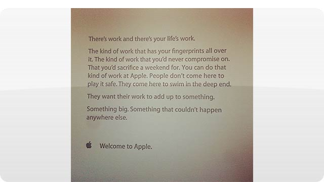 Click here to read The Inspirational Note Apple Gives to New Employees on Their First Day