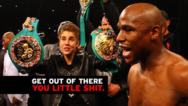 Stay the Fuck Away From Boxing Matches, Justin Bieber