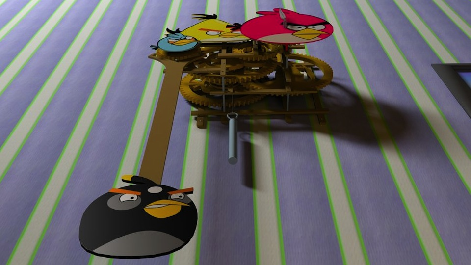 Click here to read A Peek Inside the Grinding Gears of an Awesome <em>Angry Birds</em> Clock