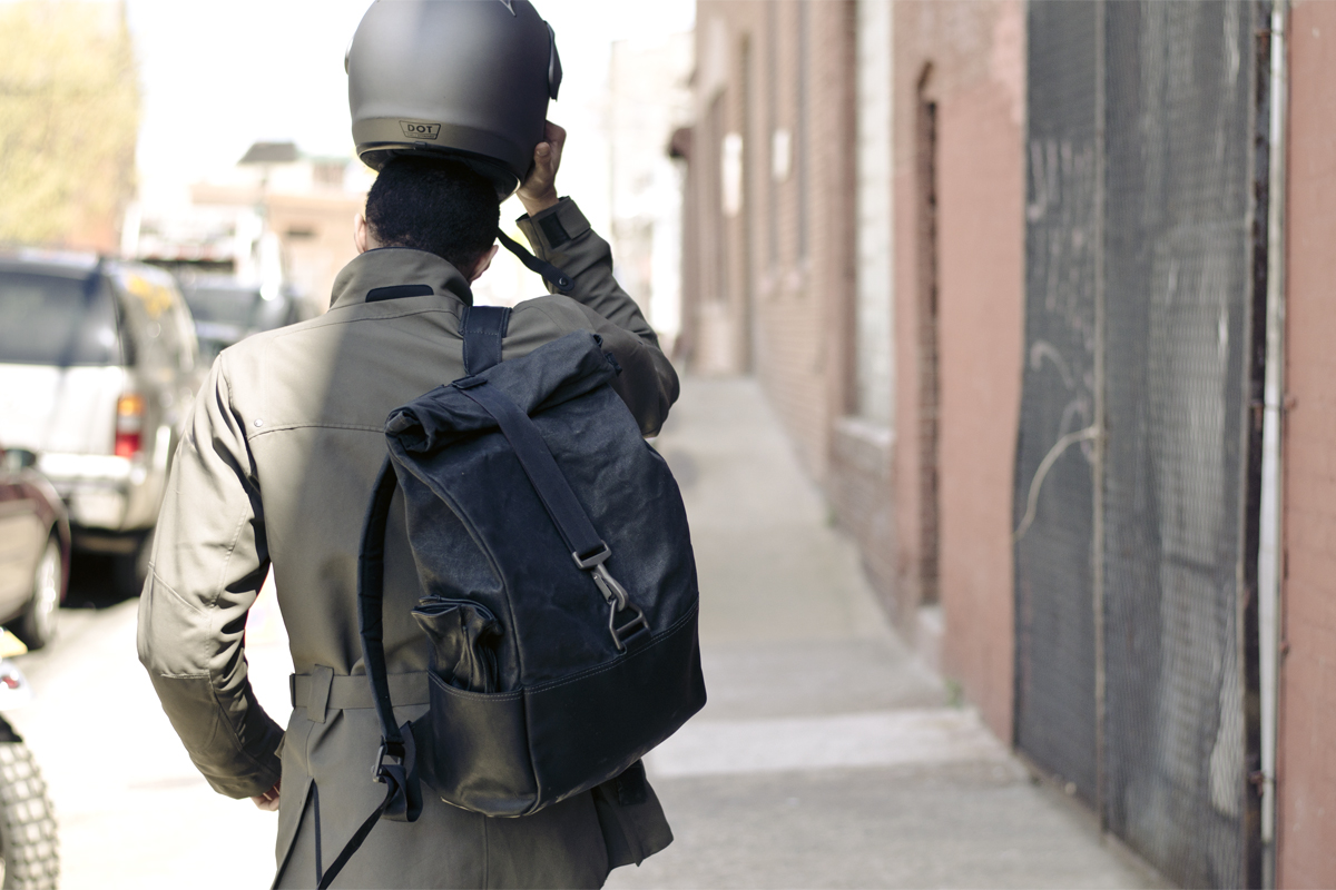 Totally Badass Backpack Made Of Salvaged Bike Boots