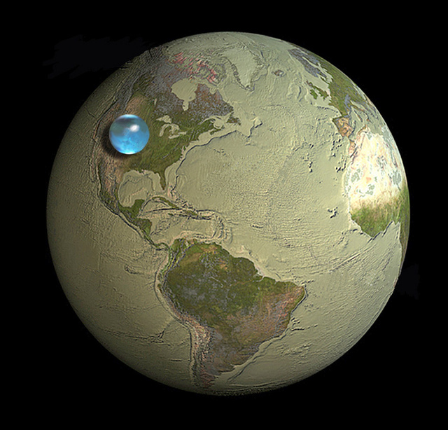 If you collected all of Earth's water into a sphere, how big would it be?