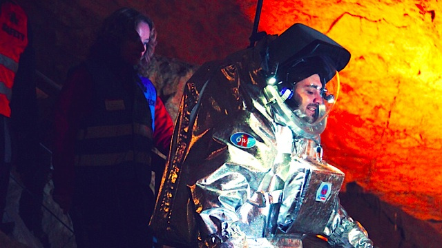 In Austria, an ice cave is an earthbound stand-in for Mars