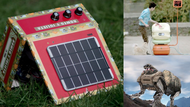 Low-Tech Water-Powered Alarm Clock, Flatpack Papercraft Gramophone, and More from TreeHugger
